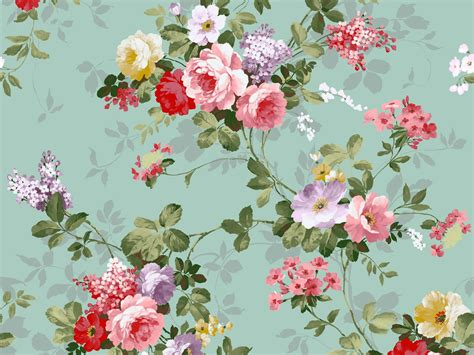 Midcentury Modern Colors - wallpaper esprit home non woven flowers green turquoise idolza