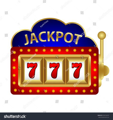 jackpot by jackpot on slot machine vector stock vector 590726474