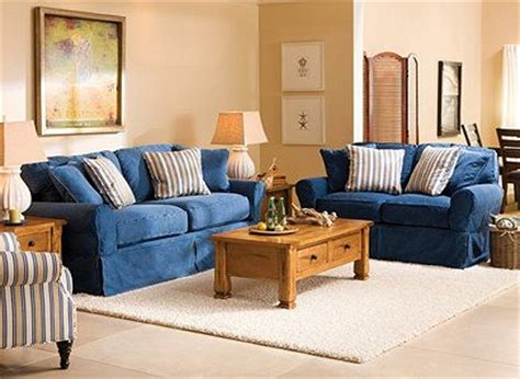 denim living room furniture cindy crawford home 174 brynn cotton living room collection