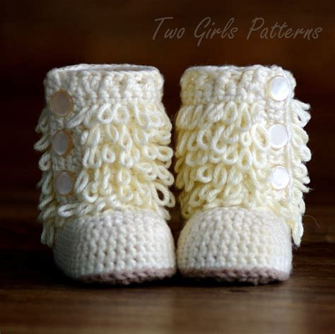 baby crochet boots pattern furrylicious booties