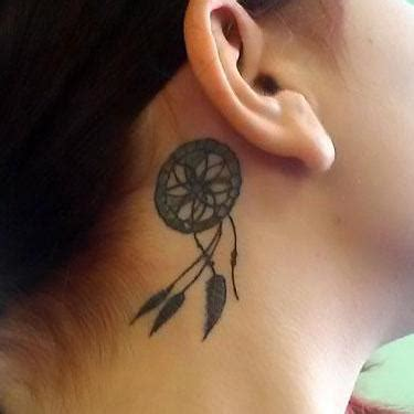 small dreamcatcher tattoo behind ear 20 protection ideas