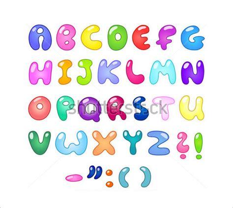 30 Alphabet Bubble Letters Free Alphabet Templates