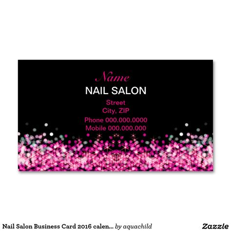 nail business cards templates nail salon business card 2016 calendar nail salons