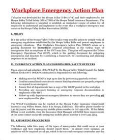 workplace plan template sle emergency plan 8 exles in pdf word