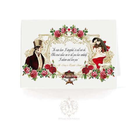 valentines engagement austen card pride by