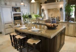 Kitchen With An Island Design by Pictures Of Kitchens Traditional Off White Antique