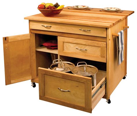 Kitchen Island And Carts deep drawer hardwood kitchen island contemporary