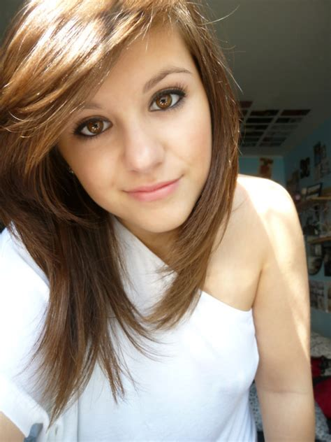 hairstyles for 13 year old brunettes brown cute eyes girl hair image 200209 on favim com