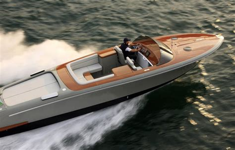 small luxury fishing boats marc newson designs limited edition luxury speedboat for
