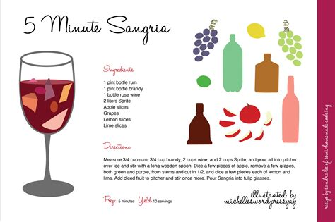 how to make 5 minute sangria a digital illustration michelleswordpressyay