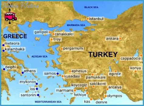 printable tourist map of turkey maps update 1966927 turkey tourist attractions map map