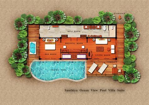 Double Master Bedroom Floor Plans ocean view pool villa santhiya koh yao yai