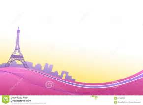 Backdrop City Abstract Background Pink Violet Paris Eiffel Tower Travel Frame Illustration Stock Vector