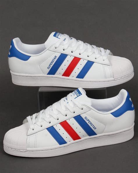 Adidas White Blue adidas superstar trainers white blue originals shell