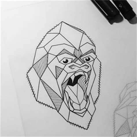 geometric gorilla tattoo 30 best images about gorillas on pinterest vectors