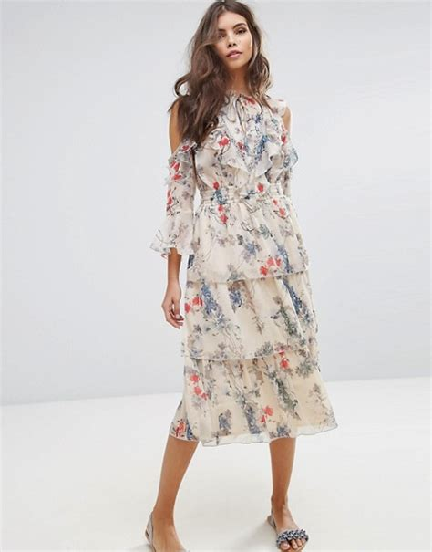 Printed T Shirt Dresses From Miss Selfridge by Miss Selfridge Floral Printed Ruffle Dress Flower Print