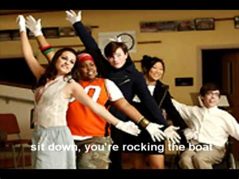 rock the boat cast sit down you re rocking the boat glee cast youtube