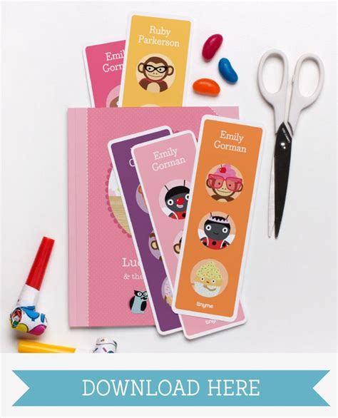 printable bookmarks customizable 5 best images of personalized printable bookmarks