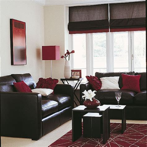 Sleek Living Room Red Accents Living Rooms And Chocolate Chocolate Brown Sofa Living Room Ideas