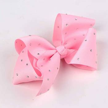 Handmade Hair Bows For Sale - cheap jojo siwa style rhinestone grosgrain hair bows for