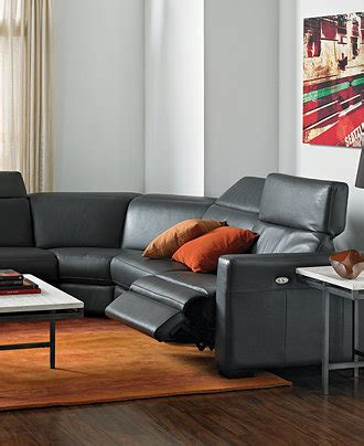 Nicolo Leather Sectional Living Room Furniture Sets Macys Living Room Furniture