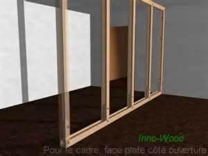 d 233 mo de construction d une cloison en profil 233 s bois
