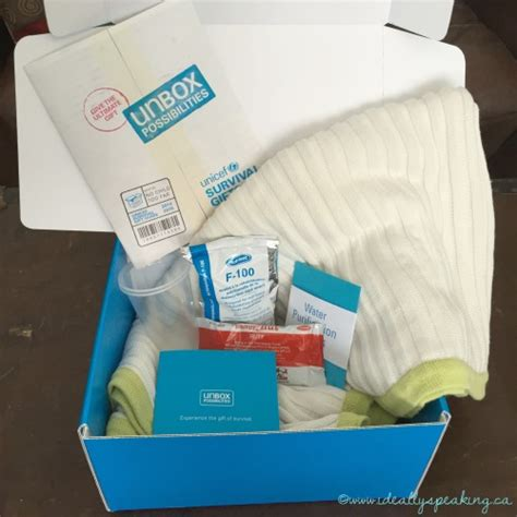 unicef gifts unboxpossibilities with a unicef survival kit ideally