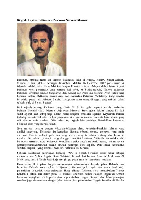 biography about kapitan pattimura biografi lengkap kapitan pattimura
