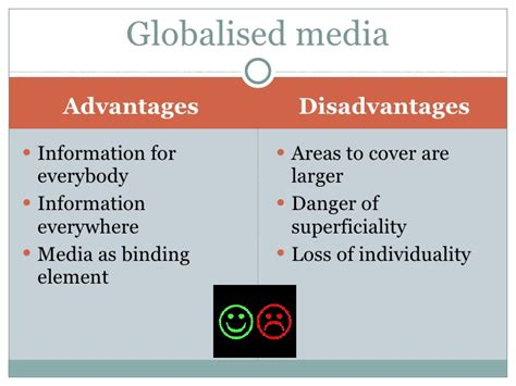 Mass Media Essay Advantages Disadvantages by Mass Media And Globalisation Bylea