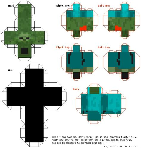 How To Craft Paper Minecraft - paper crafts template minecraft skins