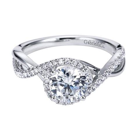 Twisted Halo Engagement Ring - engagement rings 4000