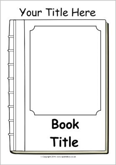 book template ks1 editable book cover templates black and white sb10422