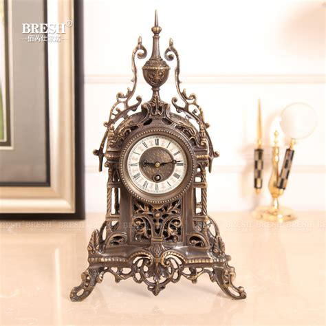 mechanical decor french fireplace clock mechanical retro ornaments crafts