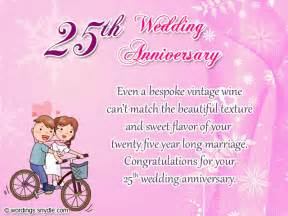 25th wedding anniversary wishes messages and wordings wordings and messages