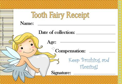 tooth certificate template free printable tooth certificate template choice