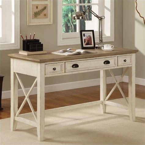 riverside furniture coventry two tone writing desk in