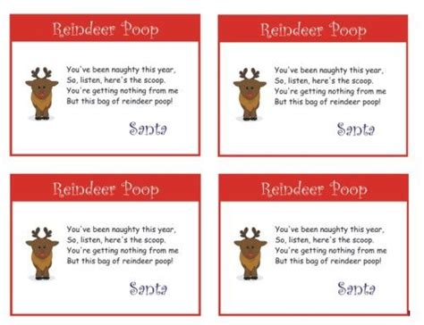 printable turkey poop poem printable reindeer poop poem christmas pinterest