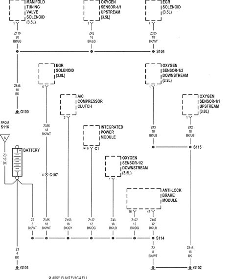 chrysler 2006 pacifica engine diagram get free image
