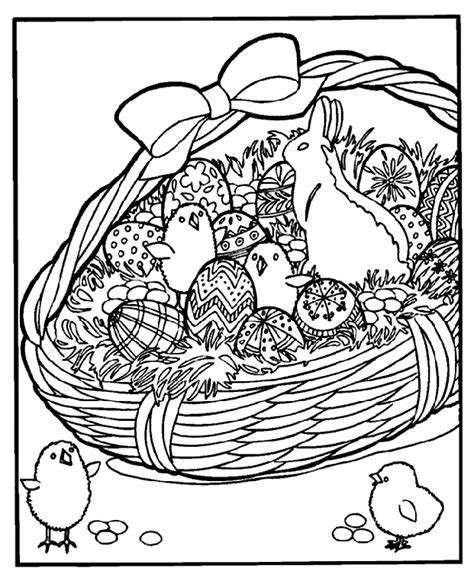 coloring pages for easter basket easter basket coloring page crayola
