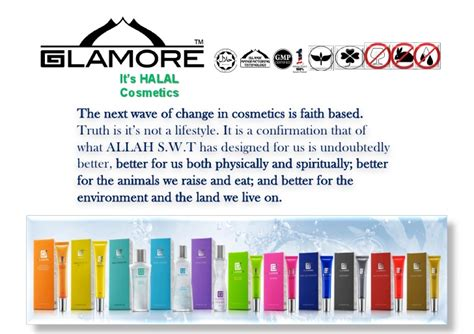 Halal And Cosmetics Products halal cosmetics and skin care product presentation by glamore