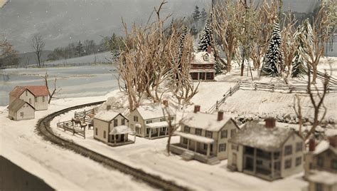 L Shaped Houses by Christmas Display Layouts Small Model Railroads