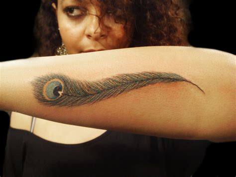 feather tattoo on arm 48 peacock design ideas design trends premium