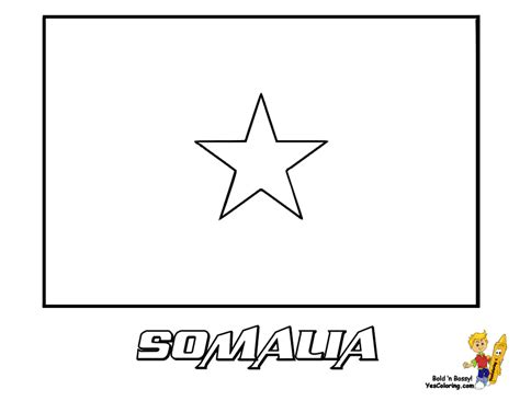 Somalia Flag Coloring Page grand flag coloring pictures flags of kitts syria world flags free