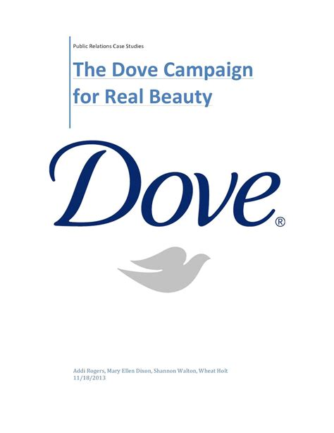 Dove Caign For Real by Calam 233 O Dove Caign For Real Study