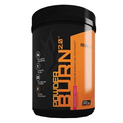 P O Powder M B K buy rivalus powder burn 2 0 35 servings fitshop ca