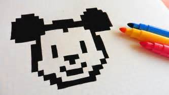 handmade pixel art draw mickey mouse pixelart