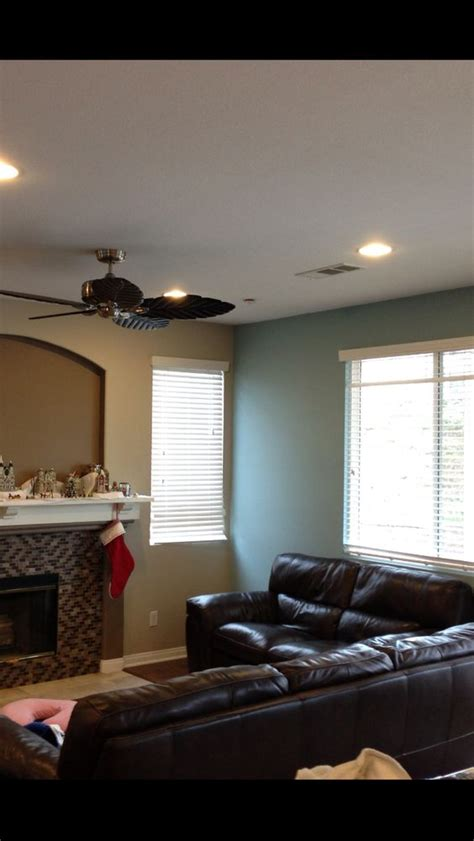family room benjamin paints colorado blue flagstone revere pewter added ceiling fan