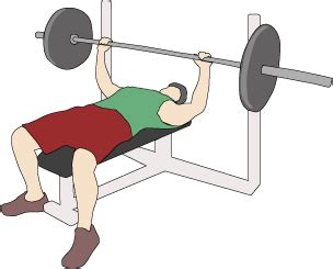 1rm bench press test scores