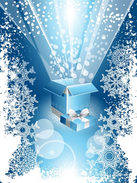 Blue Snowflakes Decorations by Snowflake Decorations Vector Free Vector 4vector