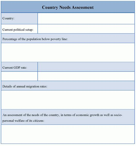 Needs Assessment Template needs assessment template images